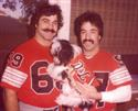 Pic of me & Chuck with my dog Carmine before one of our Touch Tackle games.  1983