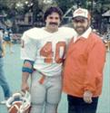 With Coach Pudgy Walsh after beating the NYPD Football team