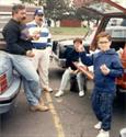 A family tradition...tailgating before a Giants Football game at the Meadowlands