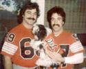 Lt. Chuck Margiotta with his brother Mike during the 12 years they played together in the Staten Island Touch Tackle League